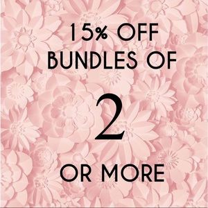 15% off 2+ items!